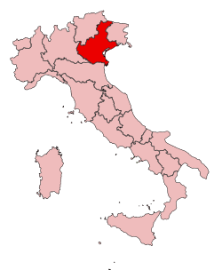 Veneto wine map